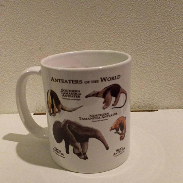 画像1: オリジナルマグカップ(アリクイ&ヤマアラシ) (1)