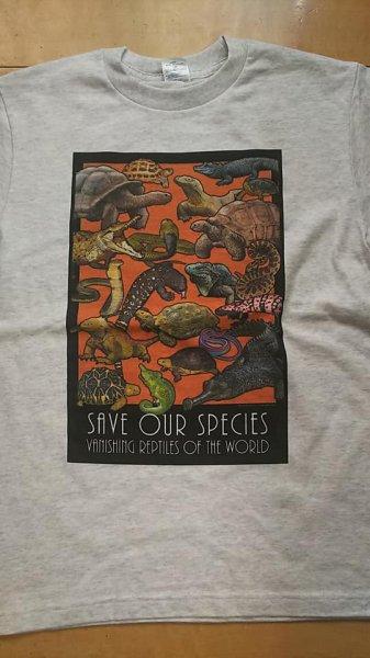 画像1: オリジナルTシャツ(Roger Hall 絶滅の危機にある爬虫類) (1)